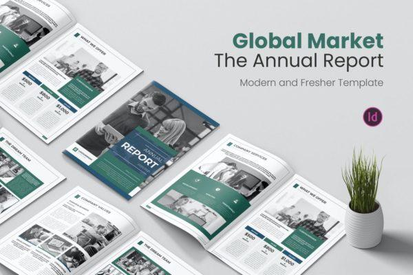 精品时尚高端专业的全球市场年度报告宣传册画册品牌手册房地产楼书设计模板源文件,编号:82625961