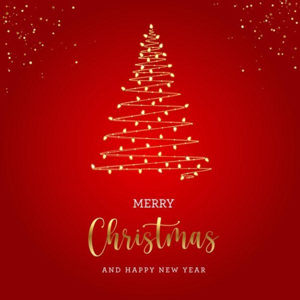 精品圣诞灯泡树概念贺卡源文件,编号:82635286