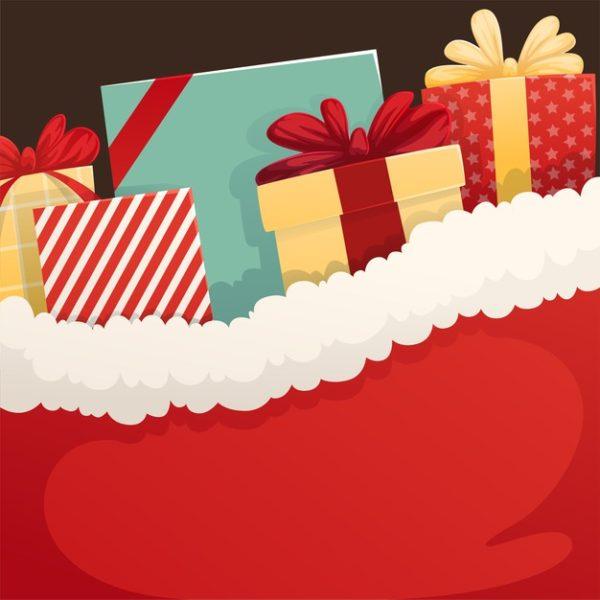 精品圣诞礼品袋插画背景源文件,编号:82622520