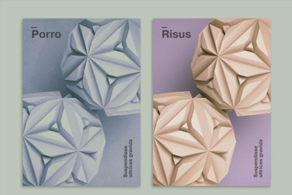 精品抽象风格的现代3D海报布局设计模板源文件,编号:82622755