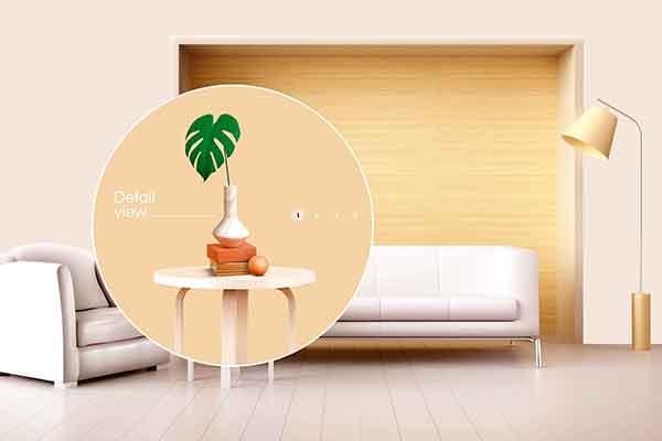 精品现代简约室内家具品牌广告主题海报psd源文件,编号:82624535