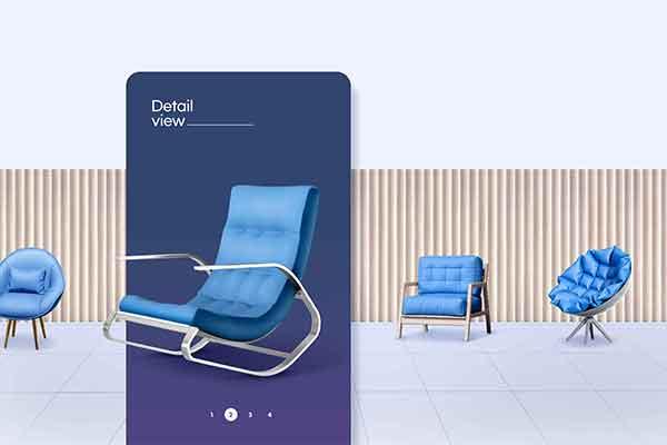 精品轻奢单人沙发椅家具广告海报设计模板源文件,编号:82621442