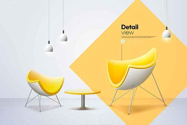 精品室内家具椅子产品促销海报设计PSD源文件,编号:82636429