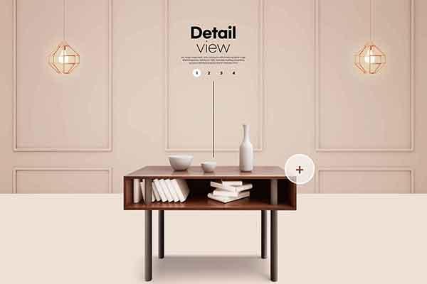 精品家具书桌销售广告海报设计psd源文件,编号:82638149