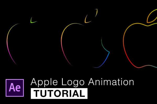 最新AE苹果LOGO描边动画视频教程,编号:82633528