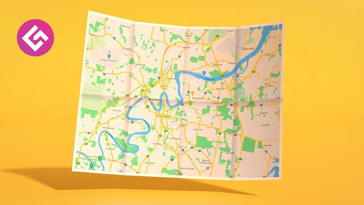 C4D地图折叠又打开视频教程含工程文件