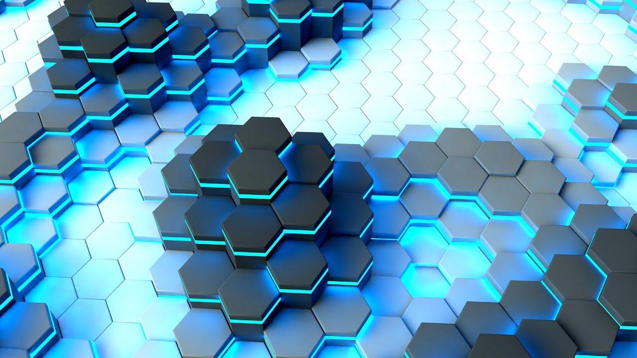 C4D制作动态多边形背景变色视频教程包括渲染