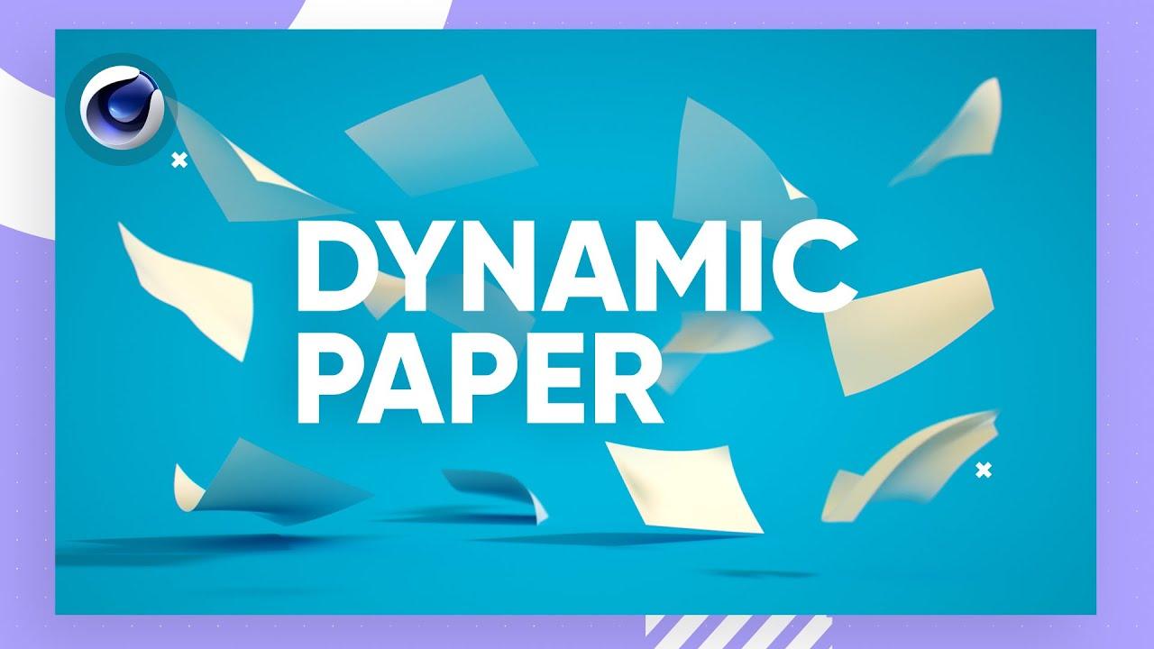 C4D纸张随机悬空飞转视频教程