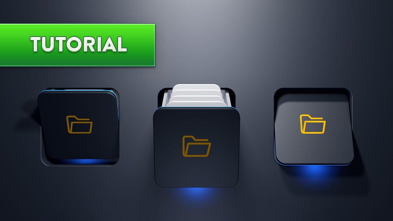 C4D制作文件夹抽屉打开视频教程