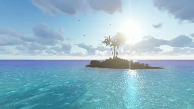海面中间的小岛视频素材