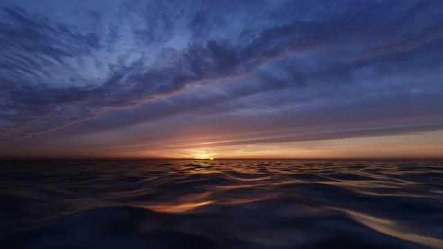 唯美海面上的日出视频素材
