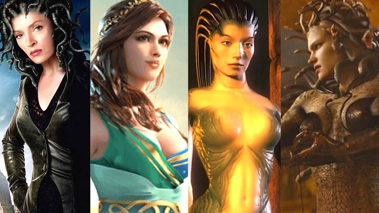 来自电影电视游戏和动画的不同版本的美杜莎