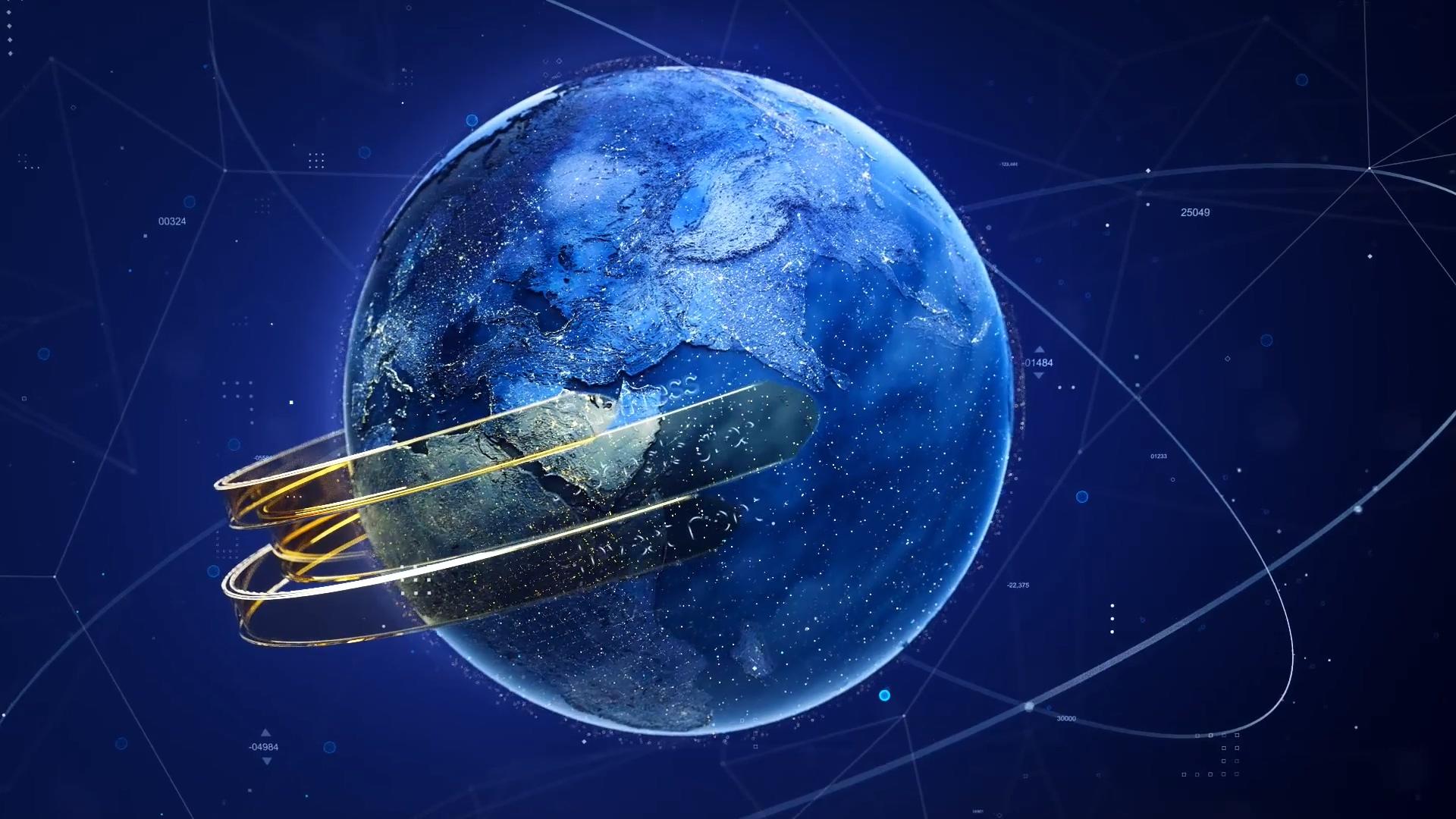地球互联网数字技术AE模板