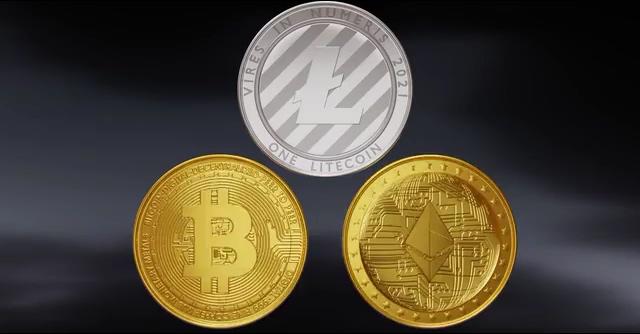 金融三枚硬币视频素材