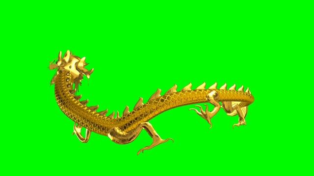 绿幕中国龙视频素材