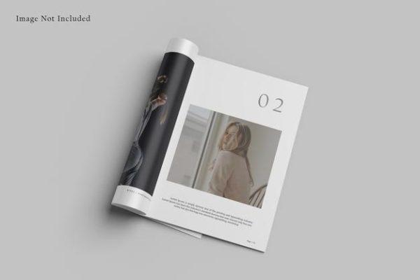 宣传册杂志页面设计样机psd_Mockups模板,编号:82639767