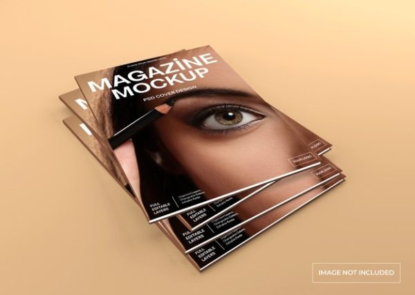 逼真的杂志封面模型PSD_Mockups模板,编号:82628374