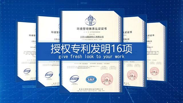 蓝色实用企业证书模板下载