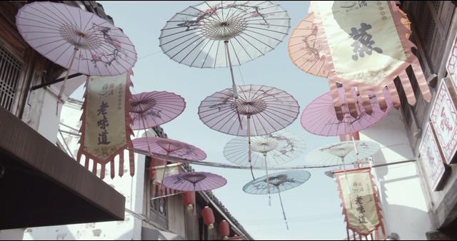 中国风文化纸伞视频素材