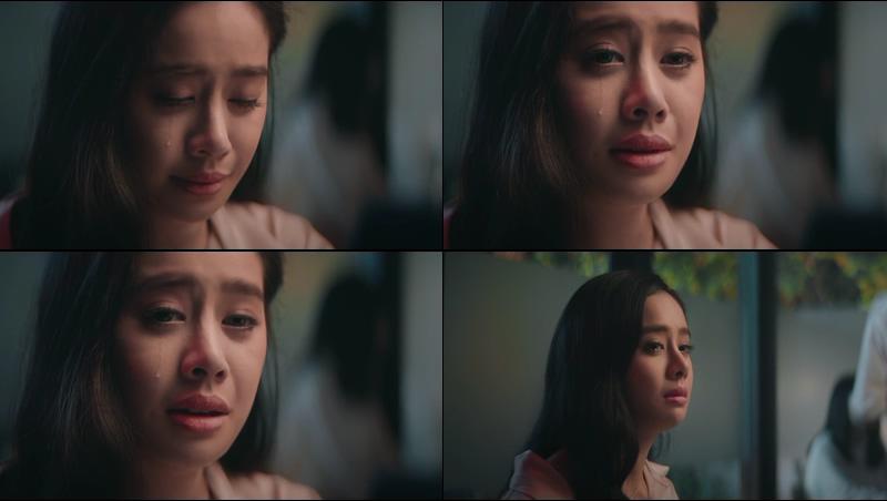 伤心伤感流泪失恋的孤独少女视频素材