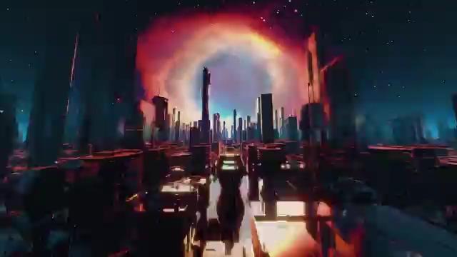 VJ城市背景视频免费