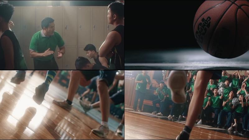 大学校运会打篮球比赛视频素材