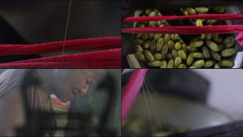 传统蚕丝制作工艺视频素材