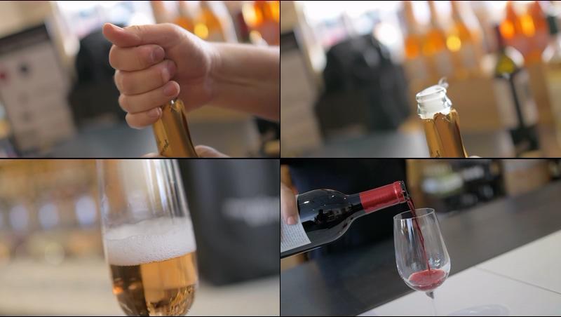 4K开洋酒倒红酒的视频素材