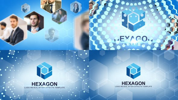 HEXAGON标志介绍AE模板