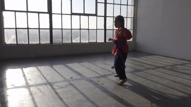 在练拳的小女孩视频