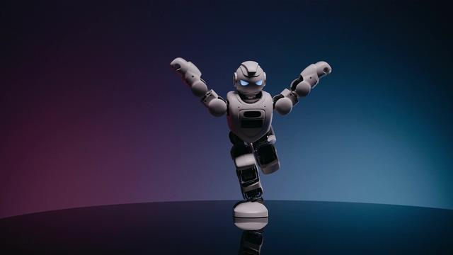 4K机器人练操跳舞视频素材