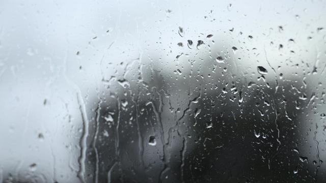 下雨天窗户后面的书剪影视频素材