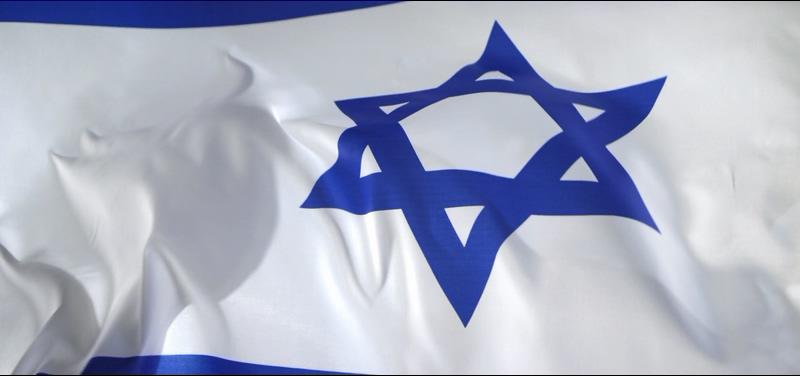 4K以色列国旗迎风飘扬