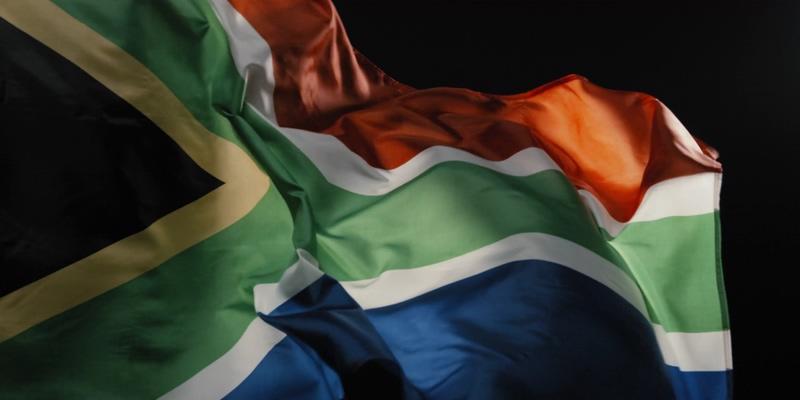 4K南非国旗全屏视频素材