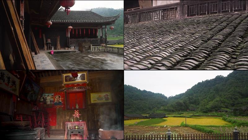 中国农村的古建筑老房子视频素材