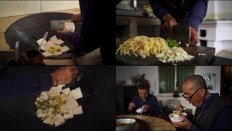 中国农村火灶做菜做饭生活场景视频素材
