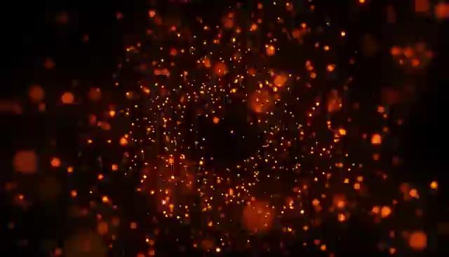 红色的粒子背景闪烁视频素材