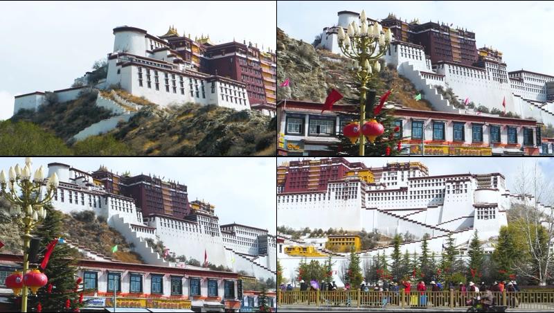 西藏布达拉宫视频素材