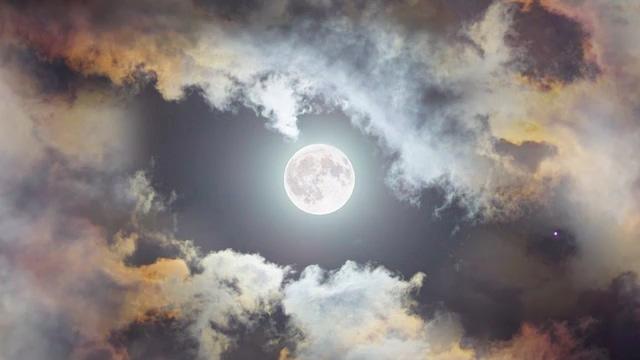 斗转星移月亮视频素材