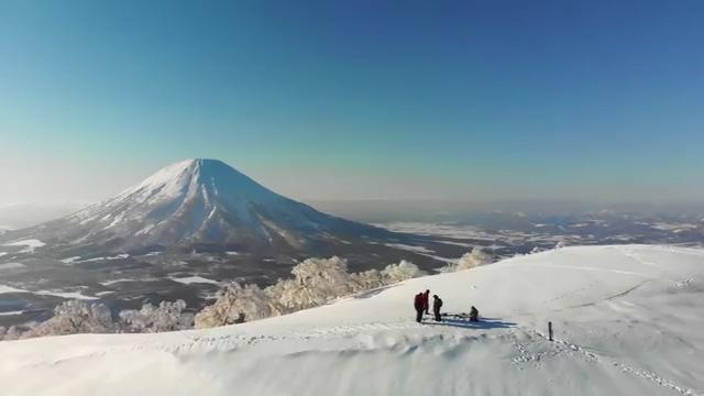 日本富士山雪景视频素材