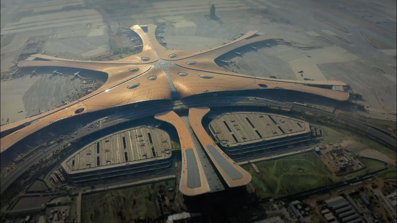4K超清北京大兴机场视频素材