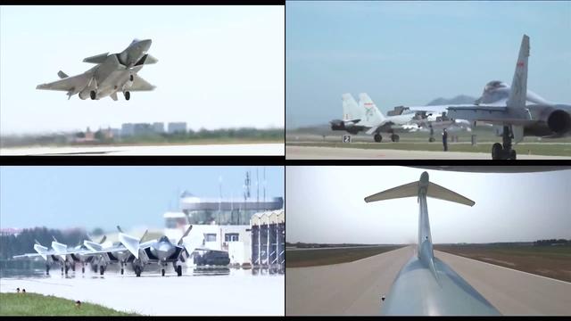 中国空军飞机视频素材