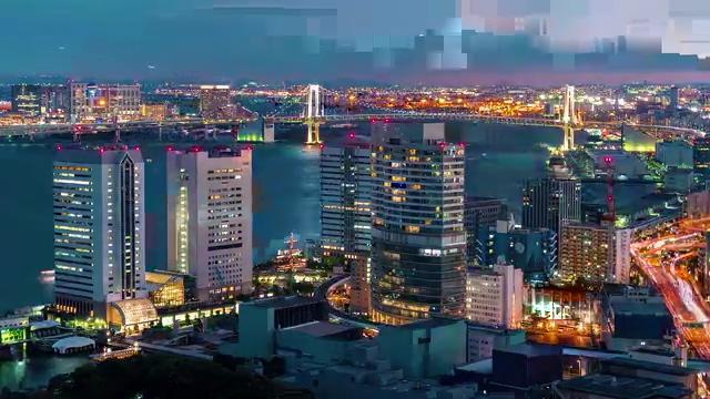 免费视频素材城市夜景