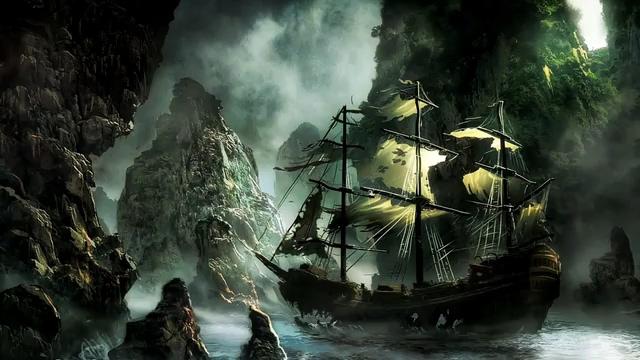 游戏加勒比海盗帆船盗墓藏宝视频素材