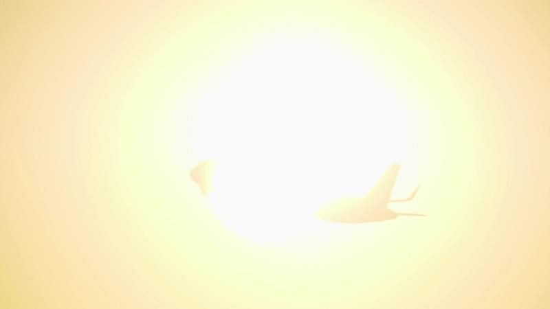 4k飞机掠过太阳视频素材