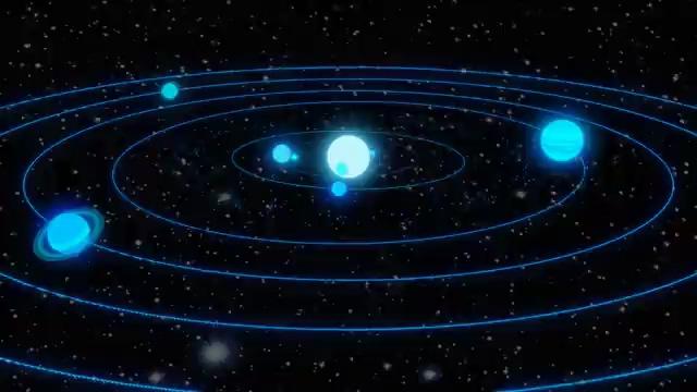 宇宙太阳系免费视频素材