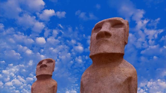 雕塑人形神像免费视频素材