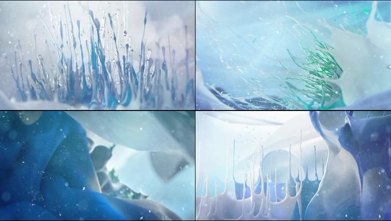 彩色流体水墨视频素材