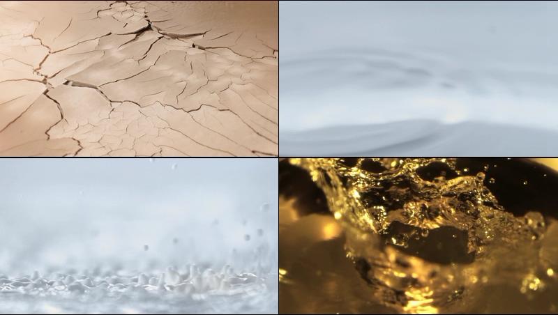 皮肤干裂补水精华液细胞能量微元素视频素材