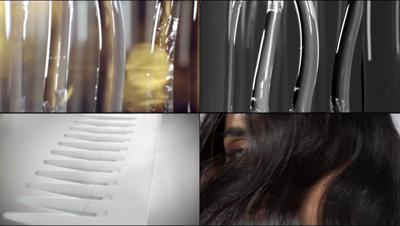 修复头发损伤护发养发视频素材